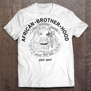 african-brotherhood-T-white
