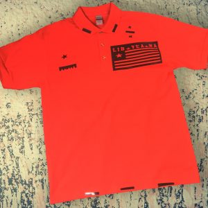 LIB YEA NA Polo (black on red)