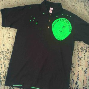 African Brotherhood Polo (green on black)