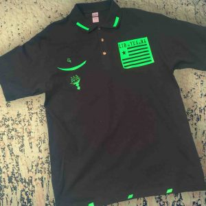 LIB YEA NA Polo (green on black)