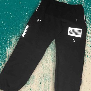 LIB YEA NA Sweat Pants (white on black)