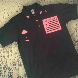 LIB YEA NA Polo (pink on black)