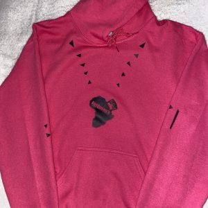 Hoodie (Pink on Black)